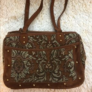 Accessories - Brown Embroider Detail Bag